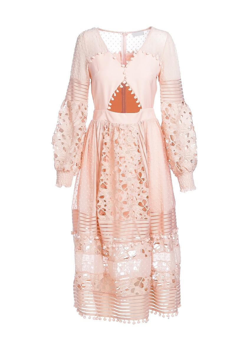 Łososiowa Sukienka Sinew