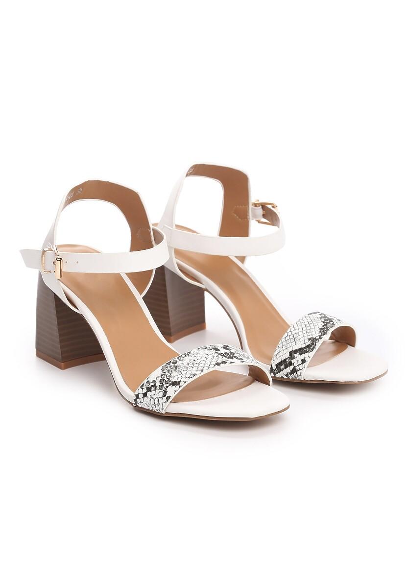 Białe Sandały Elated