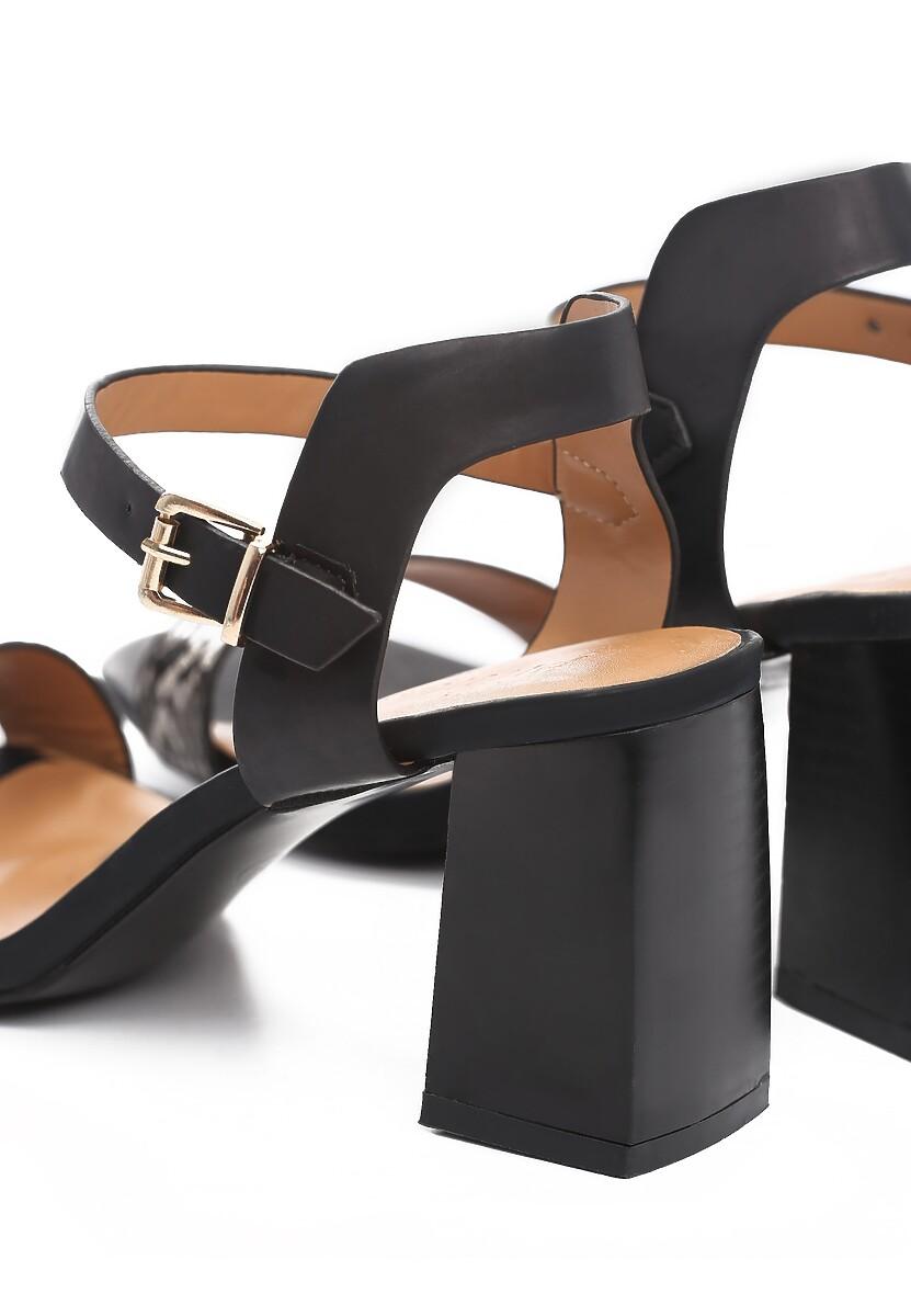 Czarne Sandały Elated