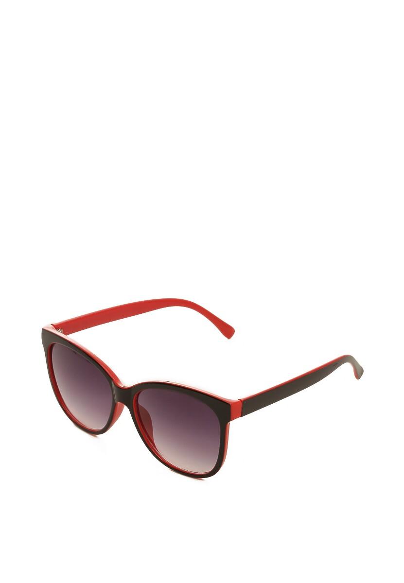 Czarno-Czerwone Okulary Impasto