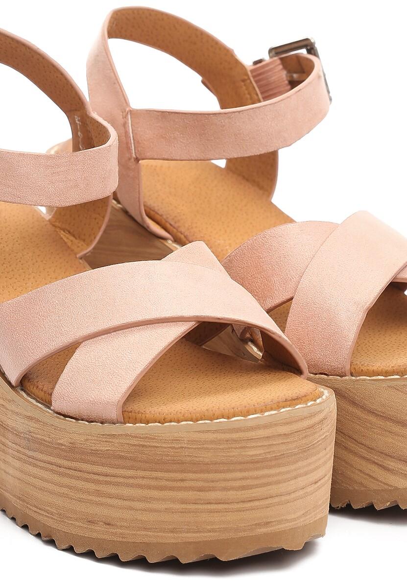 Różowe Sandały Esthetics