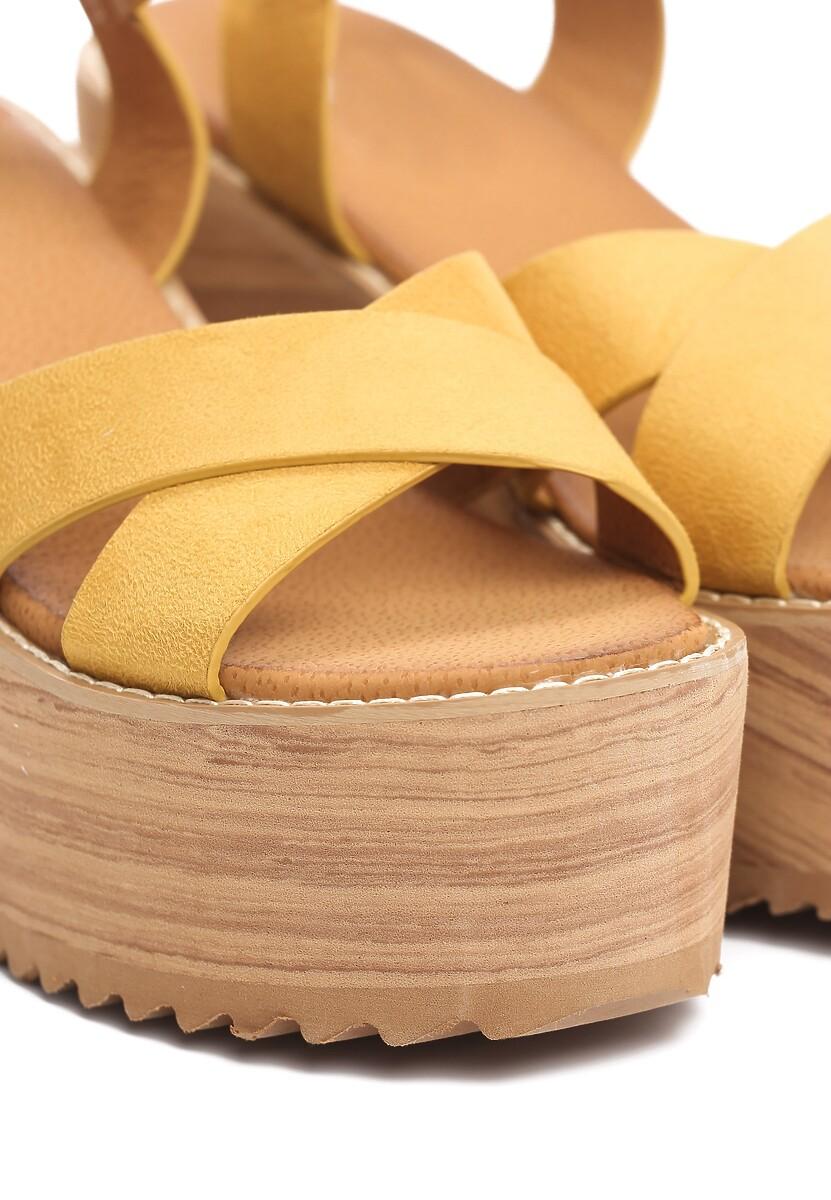 Żółte Sandały Esthetics