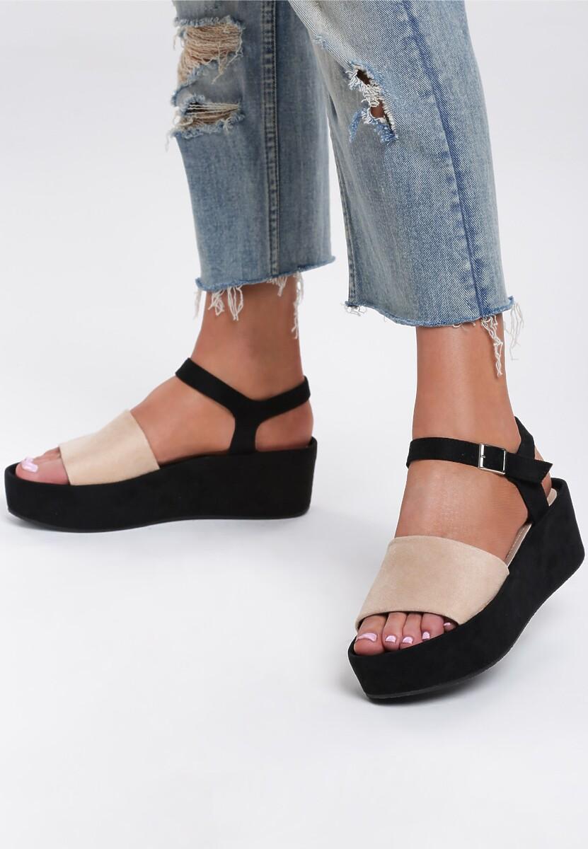 Beżowe Sandały Back