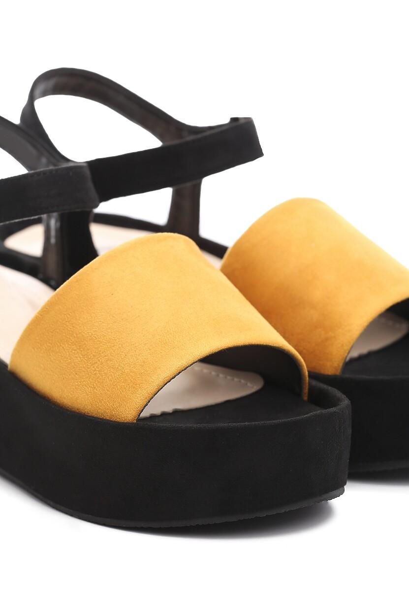 Żółte Sandały Back