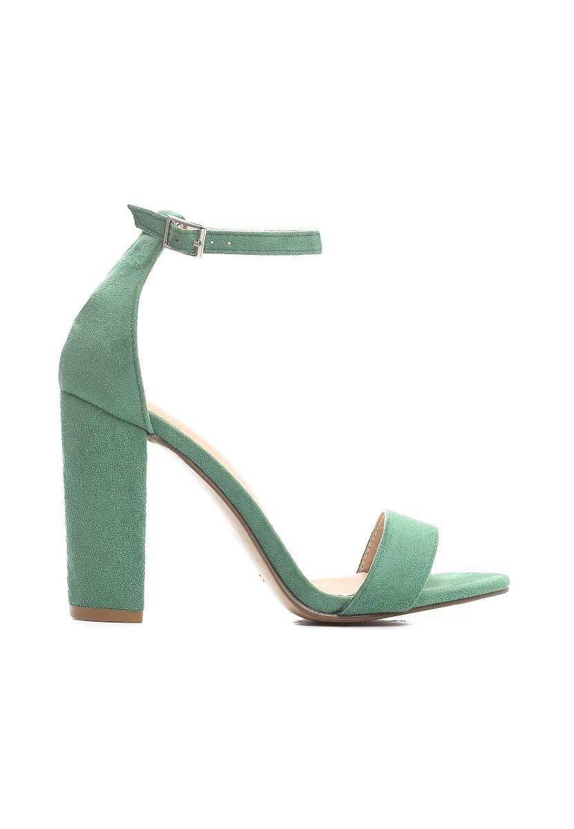 Zielone Sandały Up Front