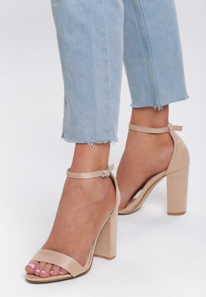 Beżowe Sandały Up Front