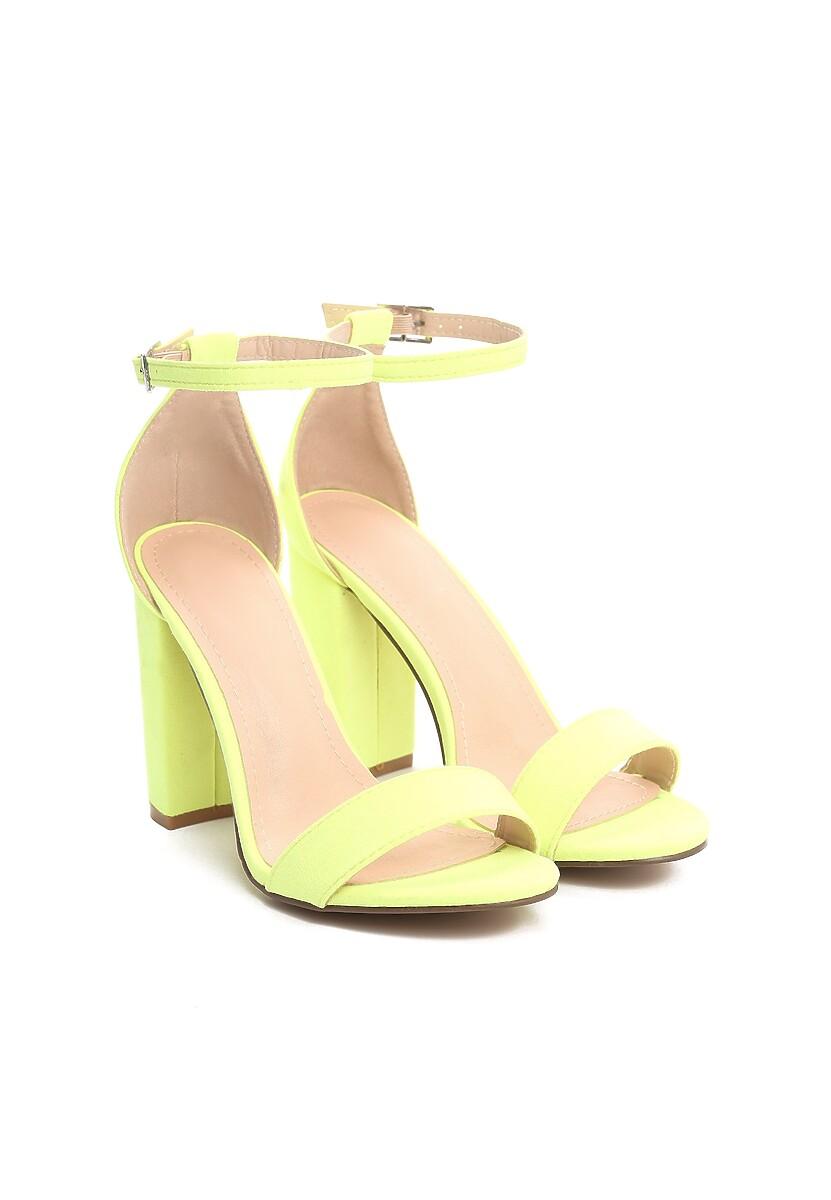 Zielono-Żółte Sandały Up Front