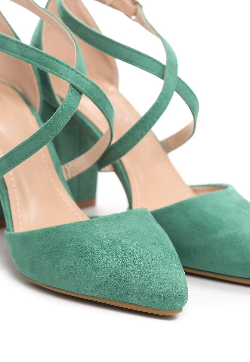 Zielone Czółenka Famuous