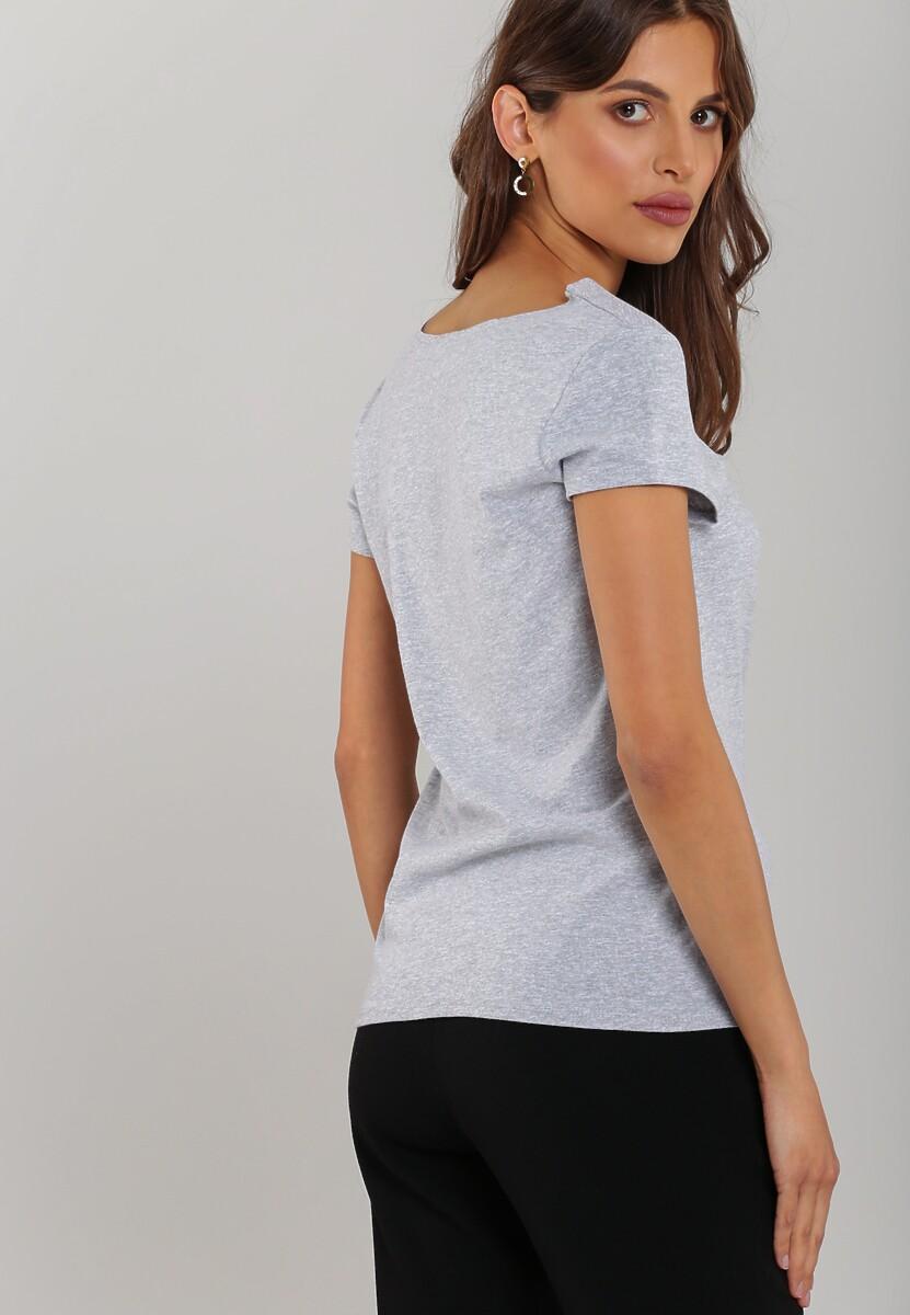 Szaro-Różowy T-shirt Myself