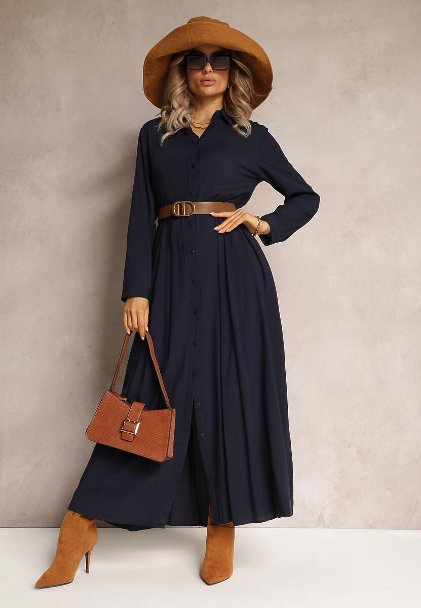Granatowa Sukienka Samba Kod produktu: 98165