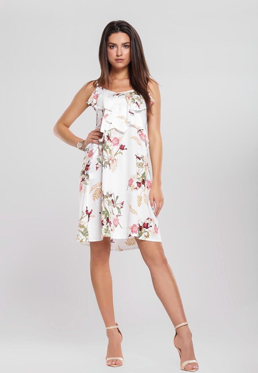 Biała Sukienka Smilet