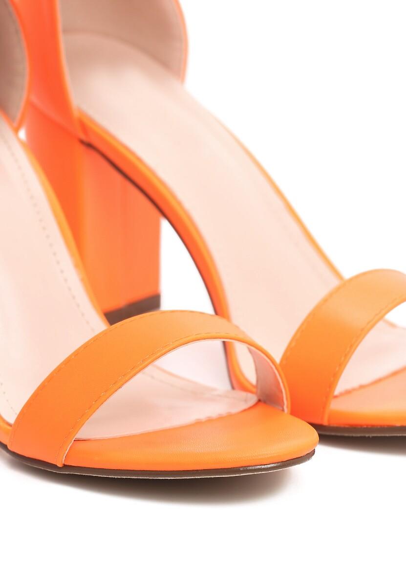 Pomarańczowe Sandały Bargaining
