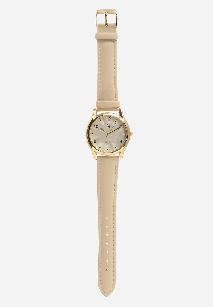 Jasnobeżowy Zegarek Leer