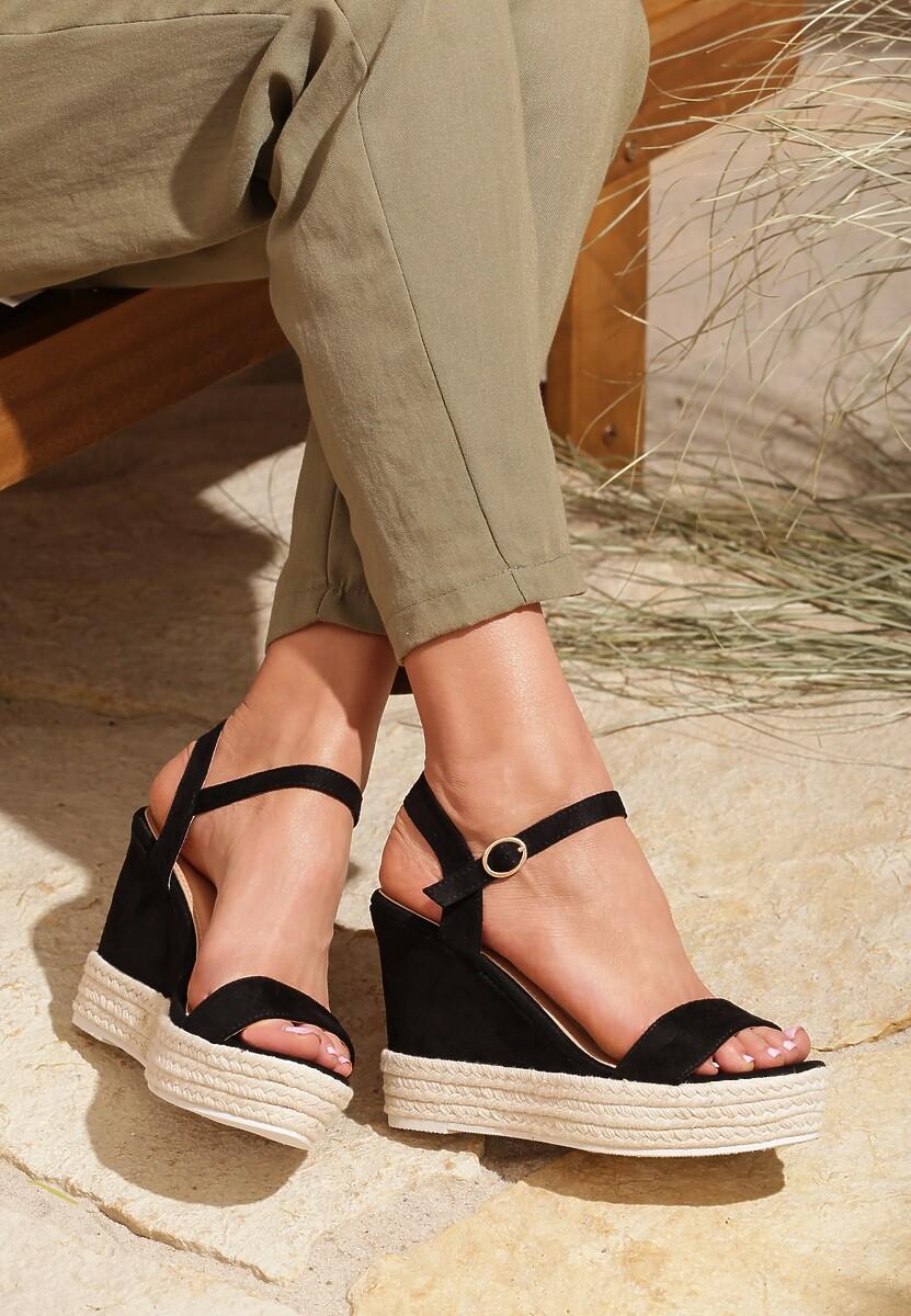 Czarne Sandały Prettiest Girl