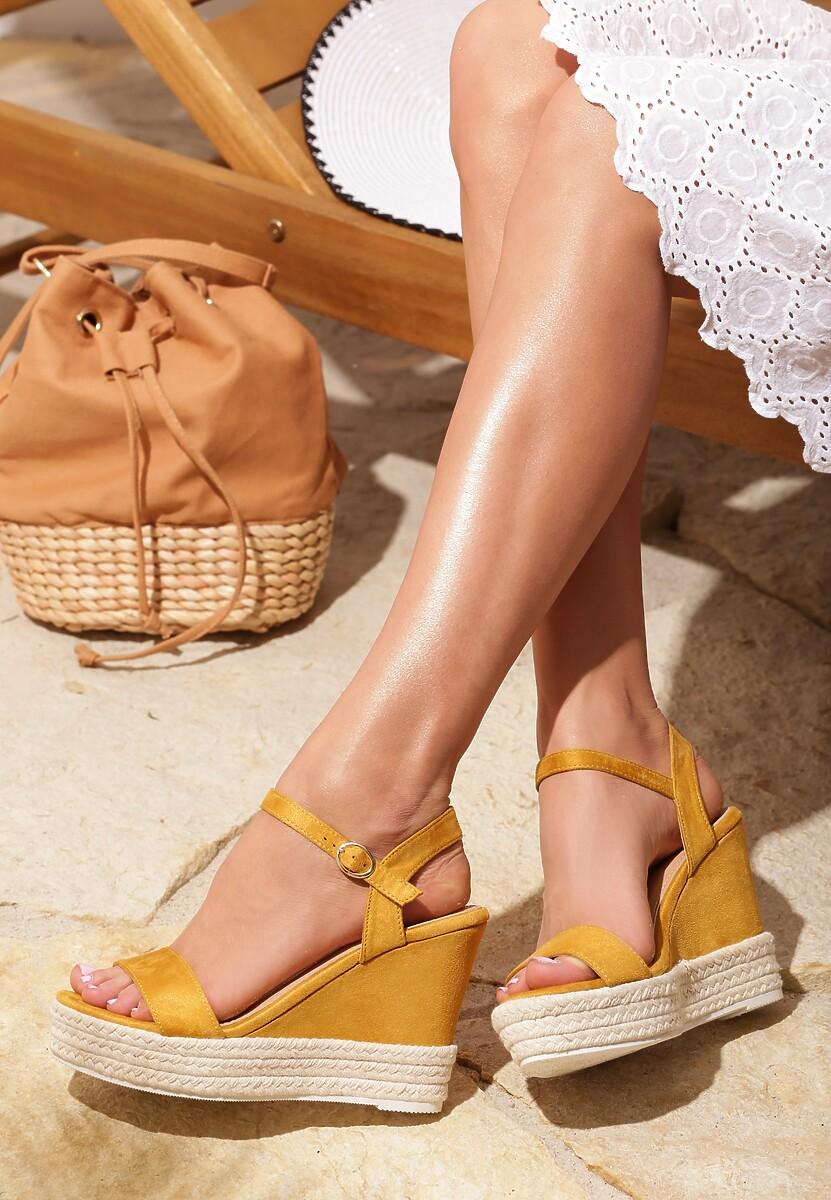 Żółte Sandały Prettiest Girl