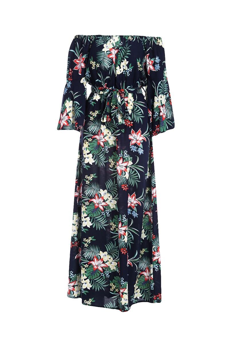 Granatowa Sukienka Glissade
