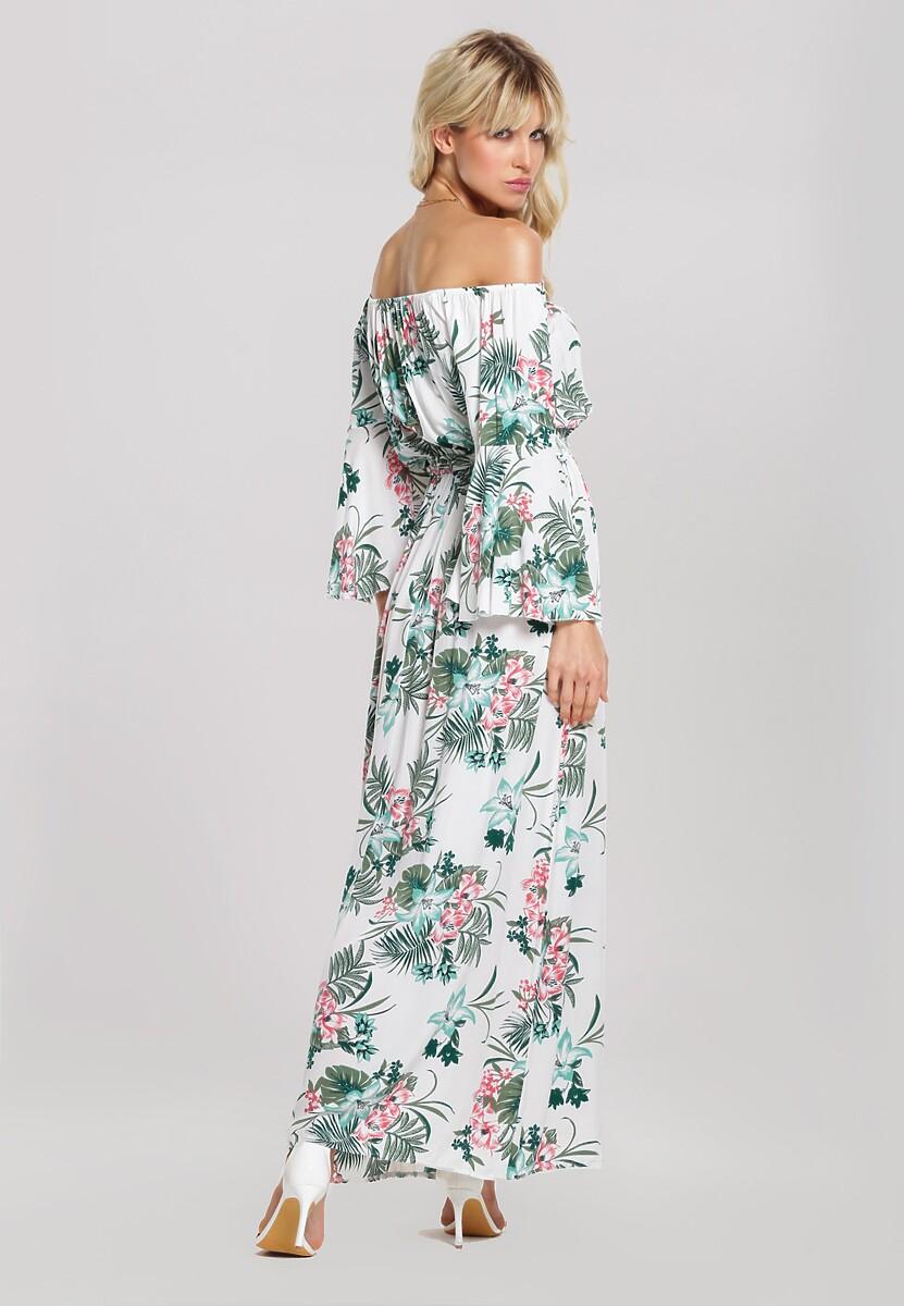 Biała Sukienka Glissade