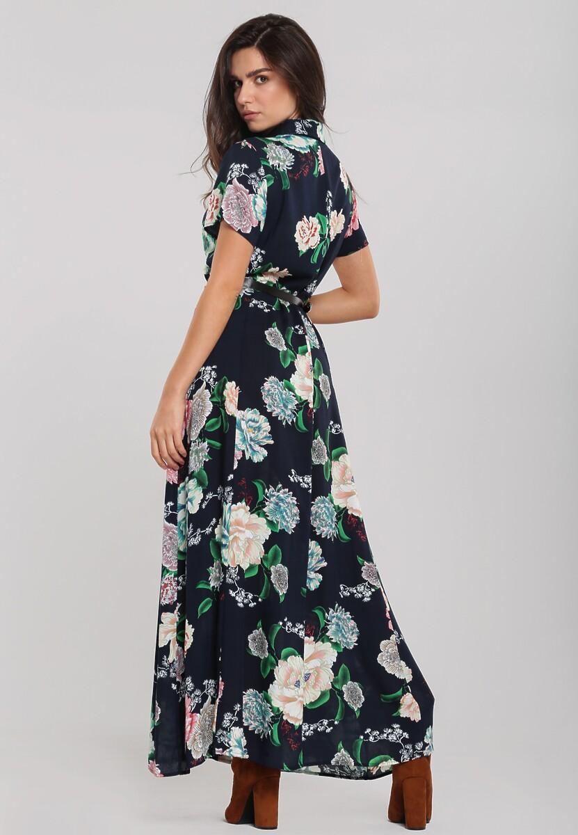 Granatowa Sukienka Cakewalk