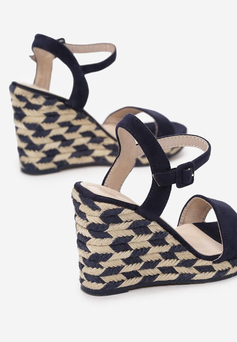 Granatowe Sandały Intercloud