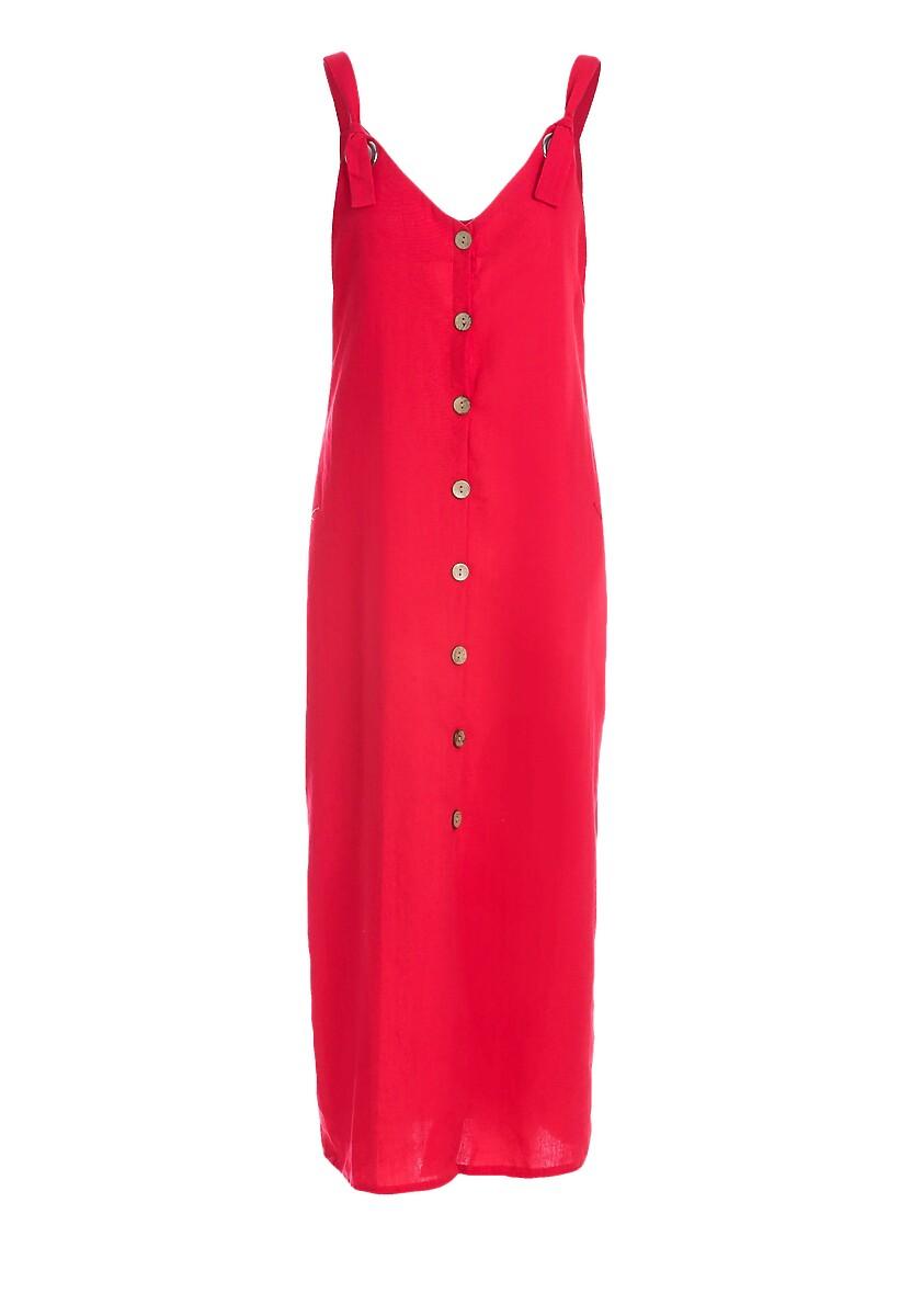 Czerwona Sukienka Morisco