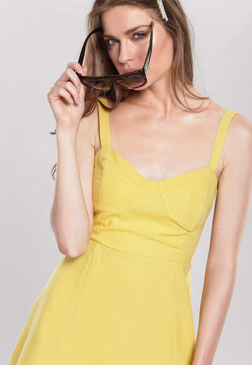 Żółta Sukienka Fandango