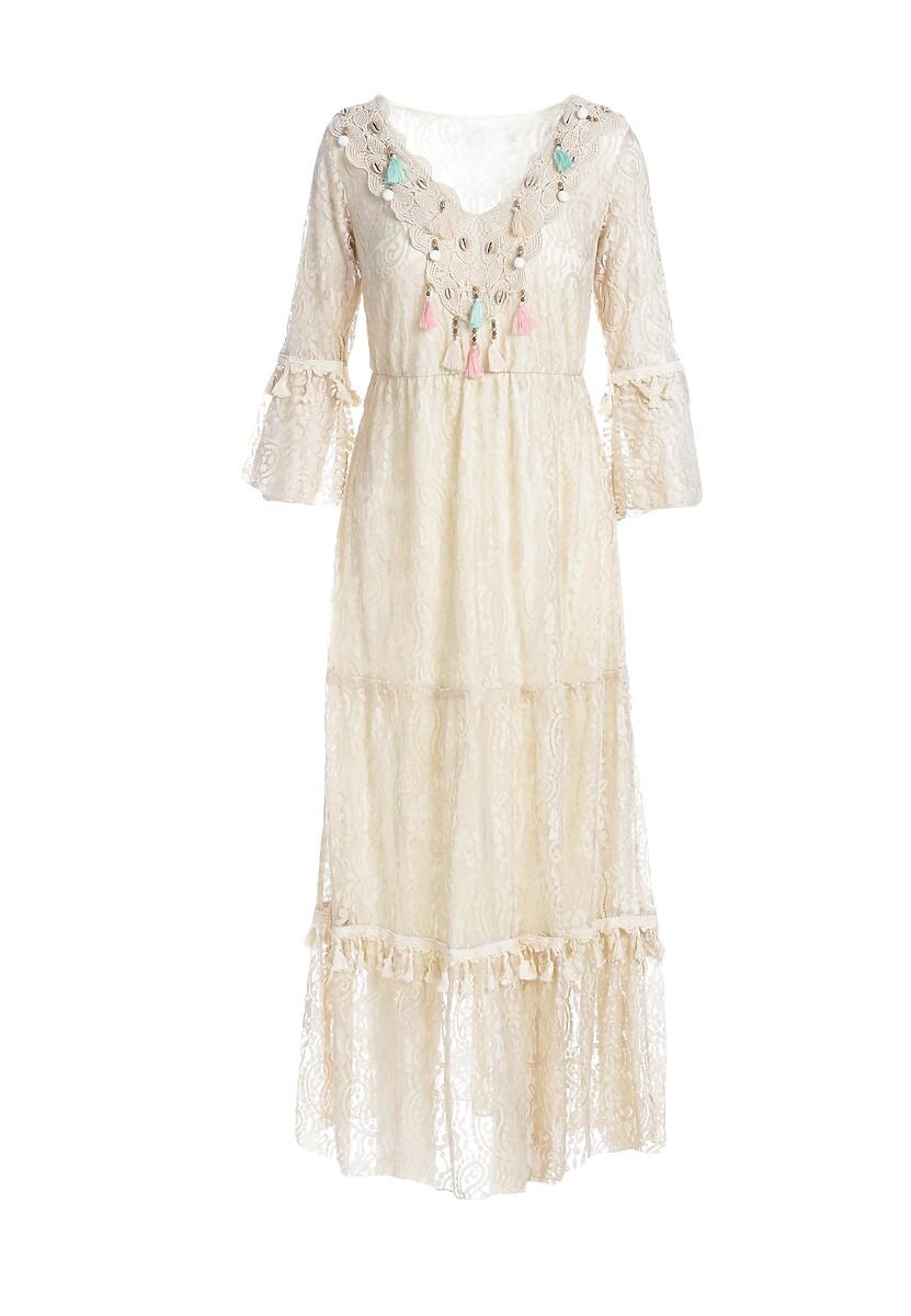 Beżowa Sukienka Selfishness