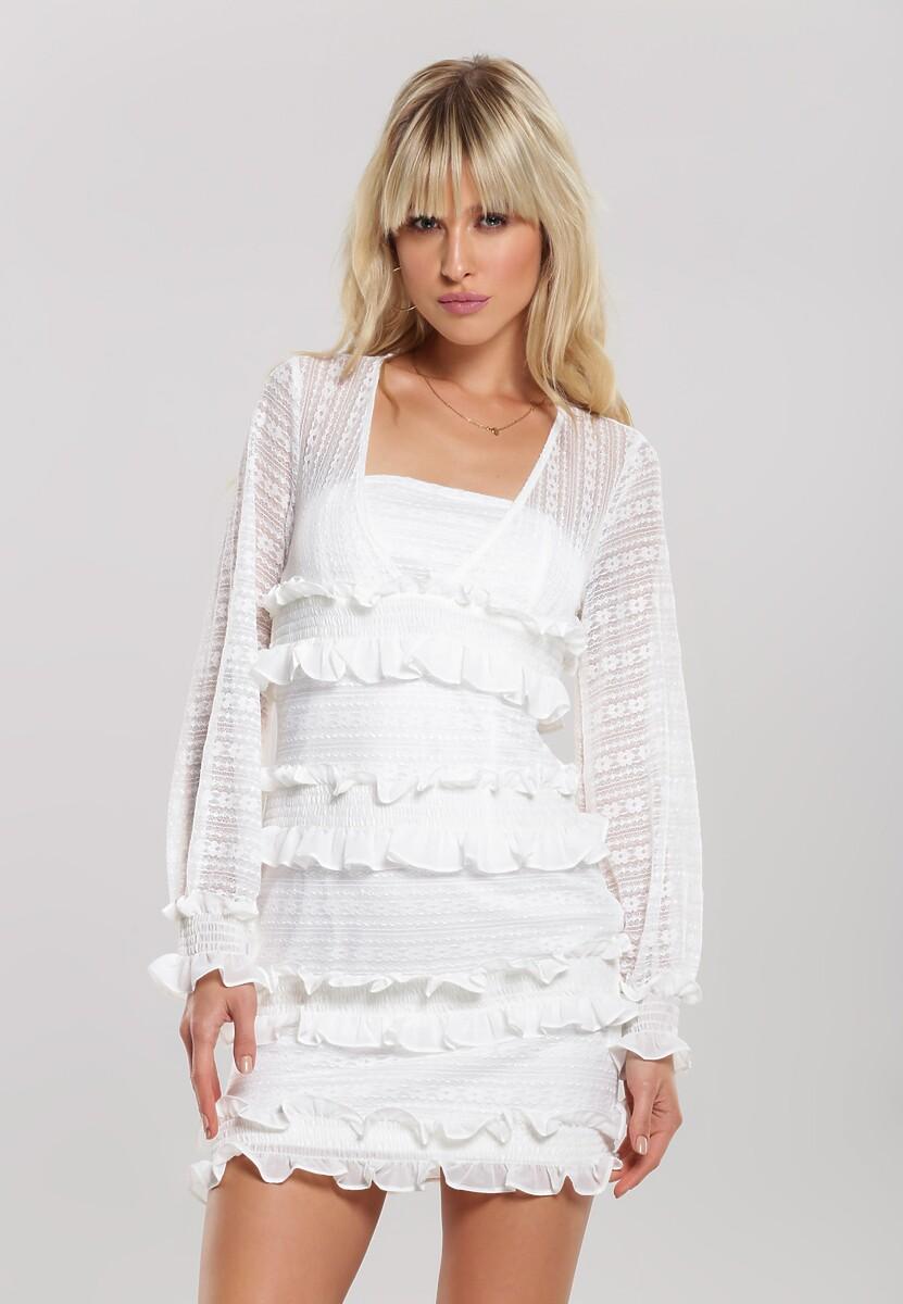 Biała Sukienka Breakdance