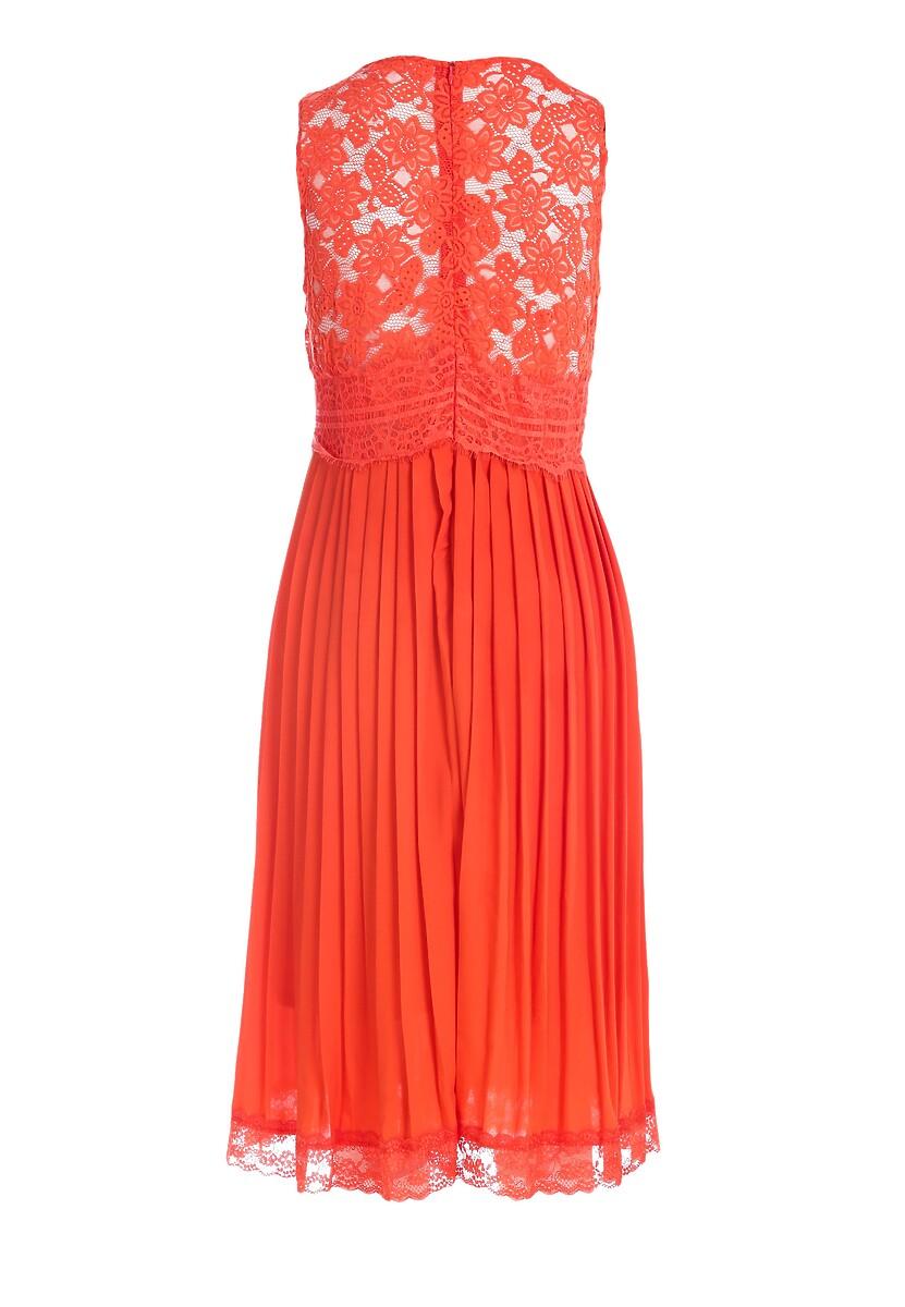 Pomarańczowa Sukienka Unright