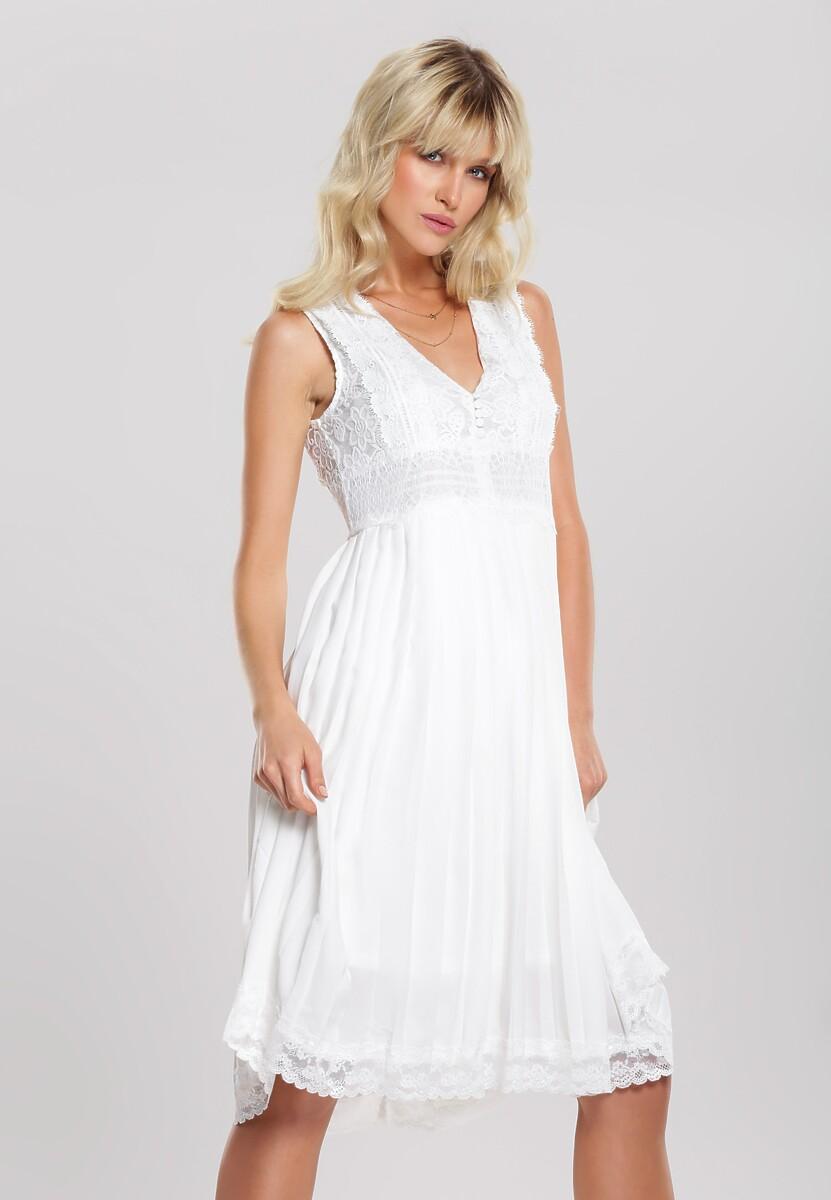 Biała Sukienka Unright