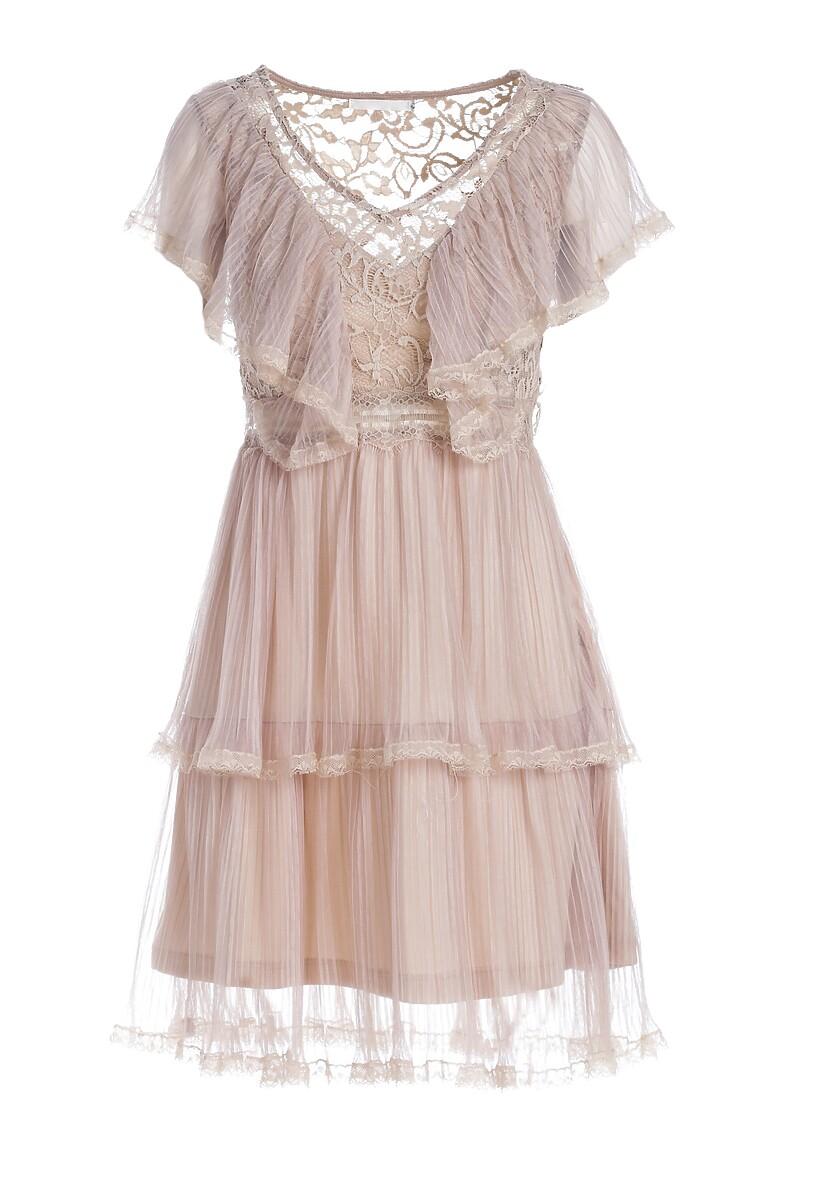 Ciemnobeżowa Sukienka Right As Rain