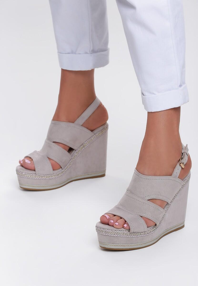 Szare Sandały Shades Of Me