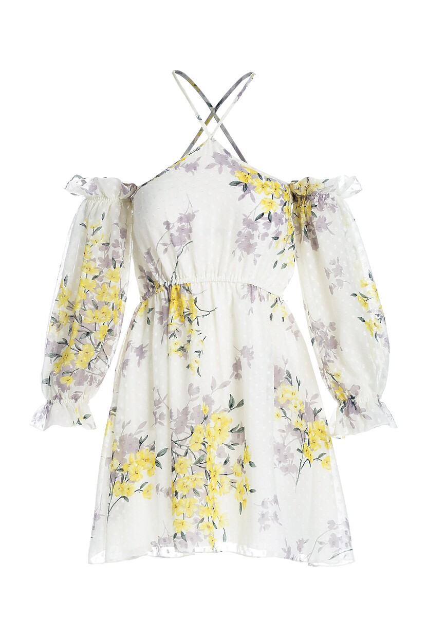 Jasnożółta Sukienka Atonement