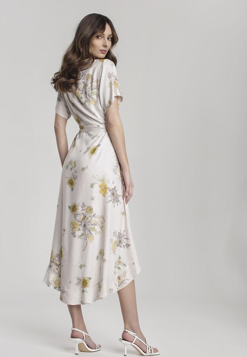 Jasnobeżowa Sukienka Compensation