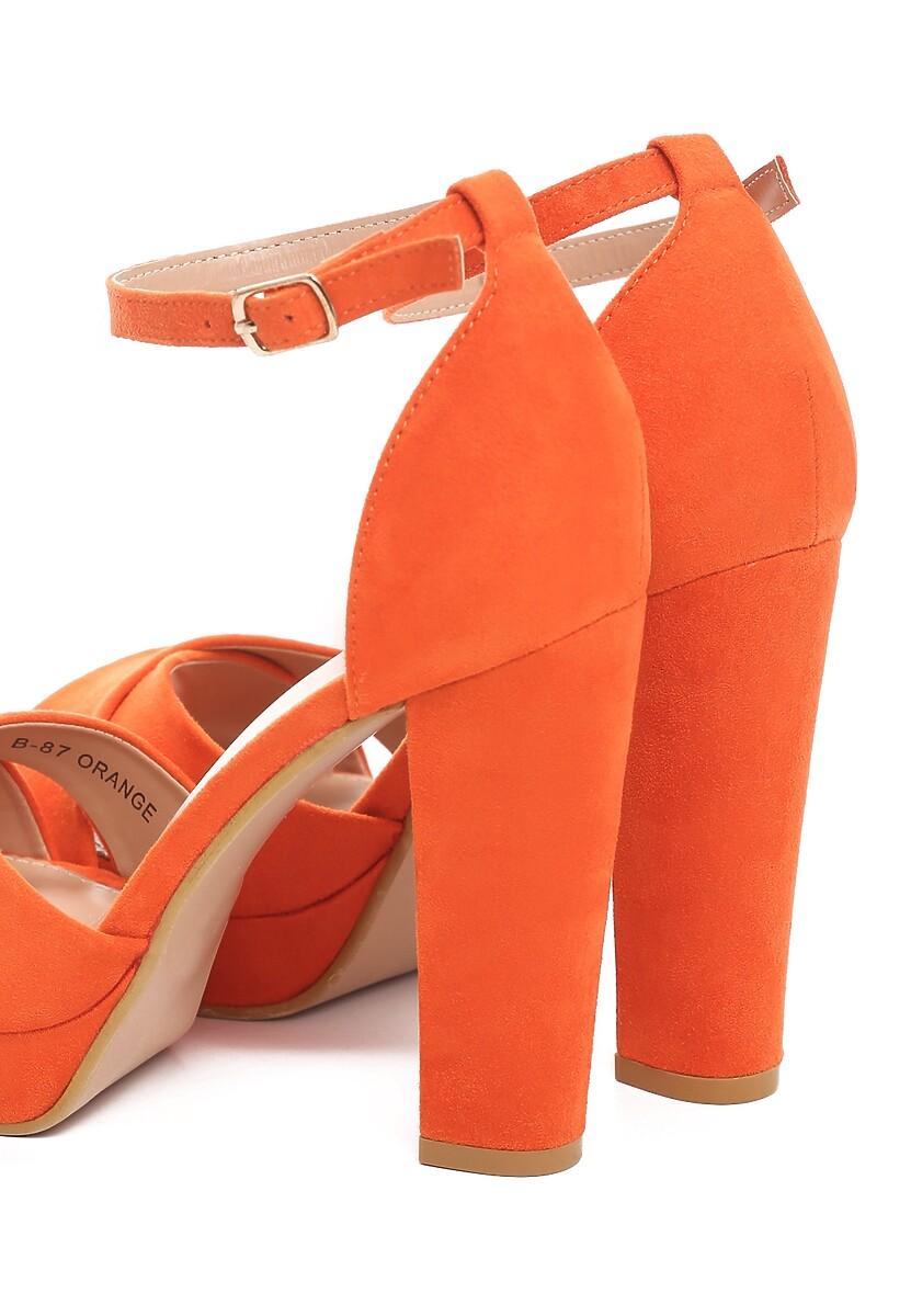 Pomarańczowe Sandały Ask For