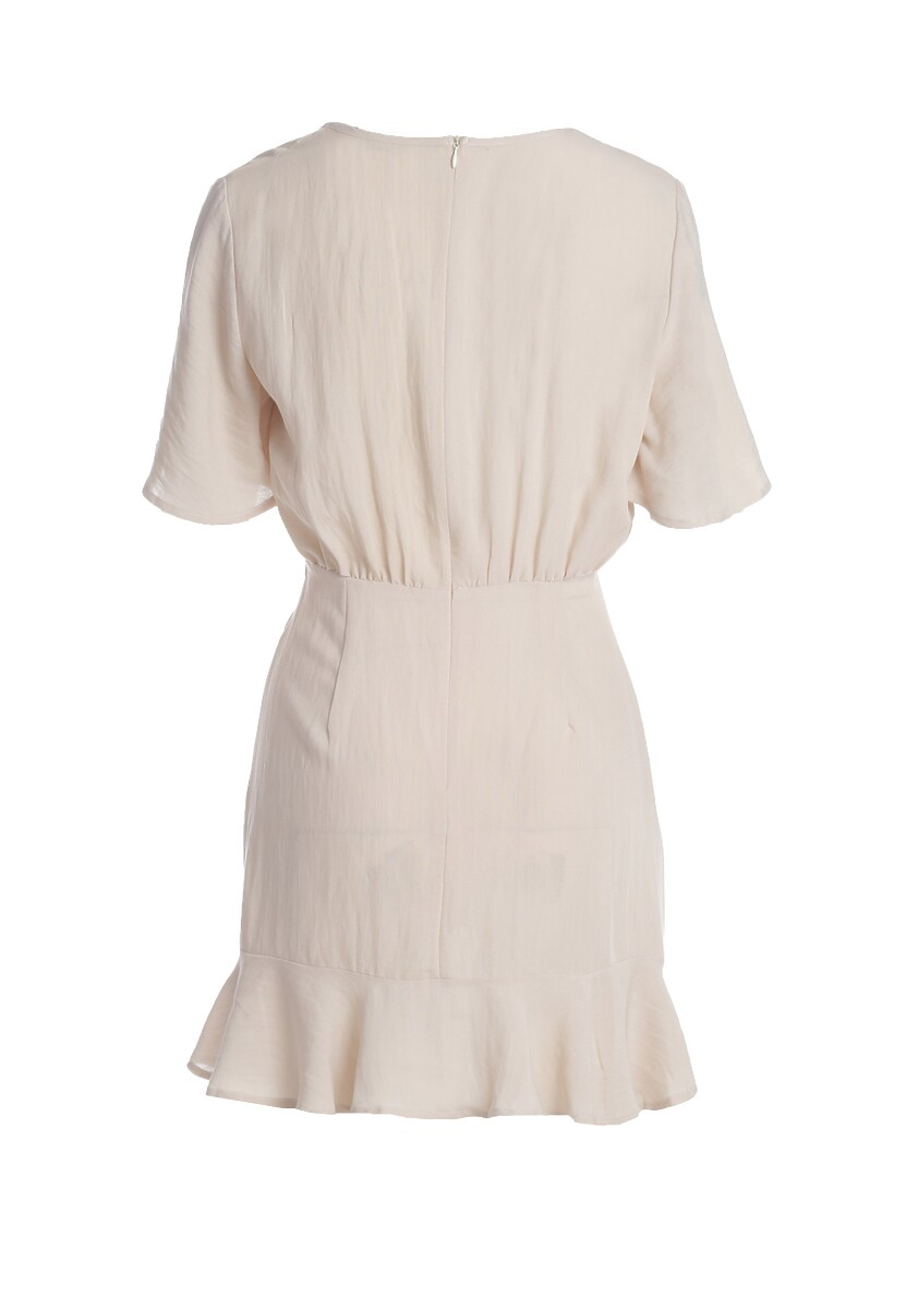 Jasnobeżowa Sukienka Interruption