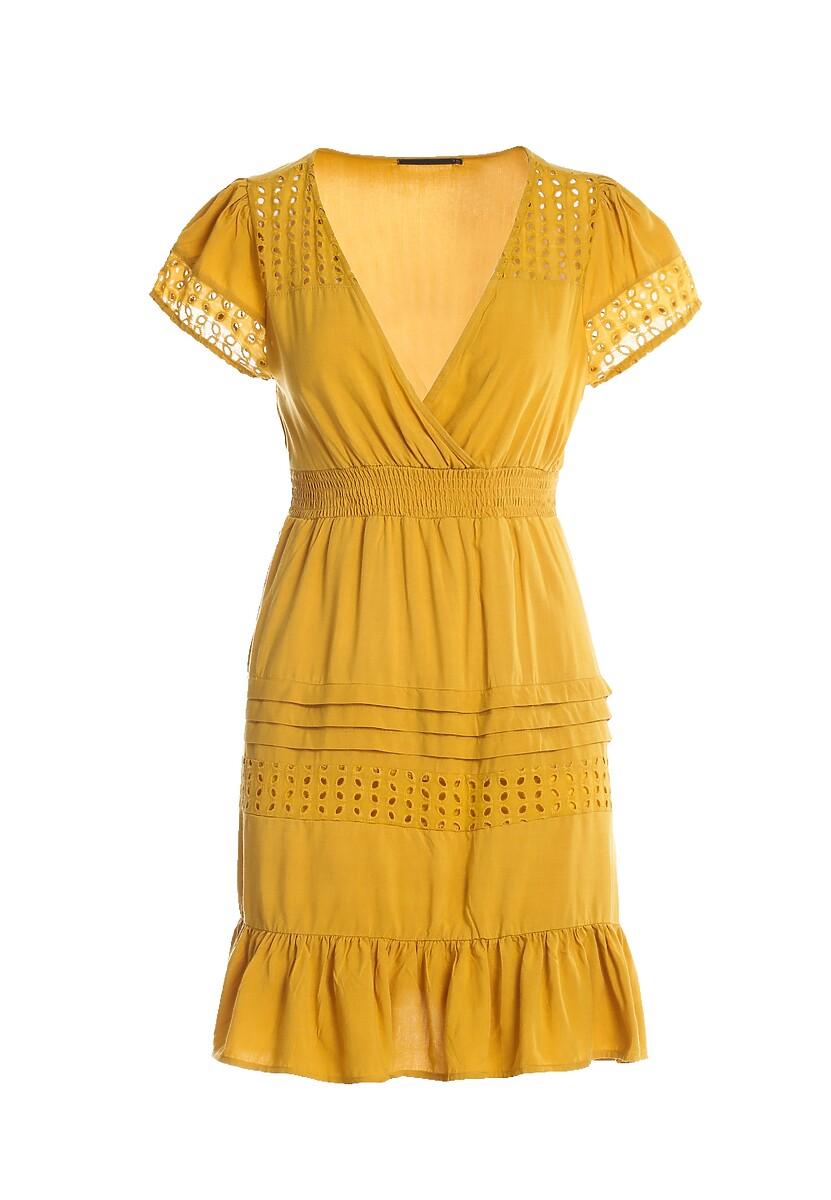 Żółta Sukienka Intermit
