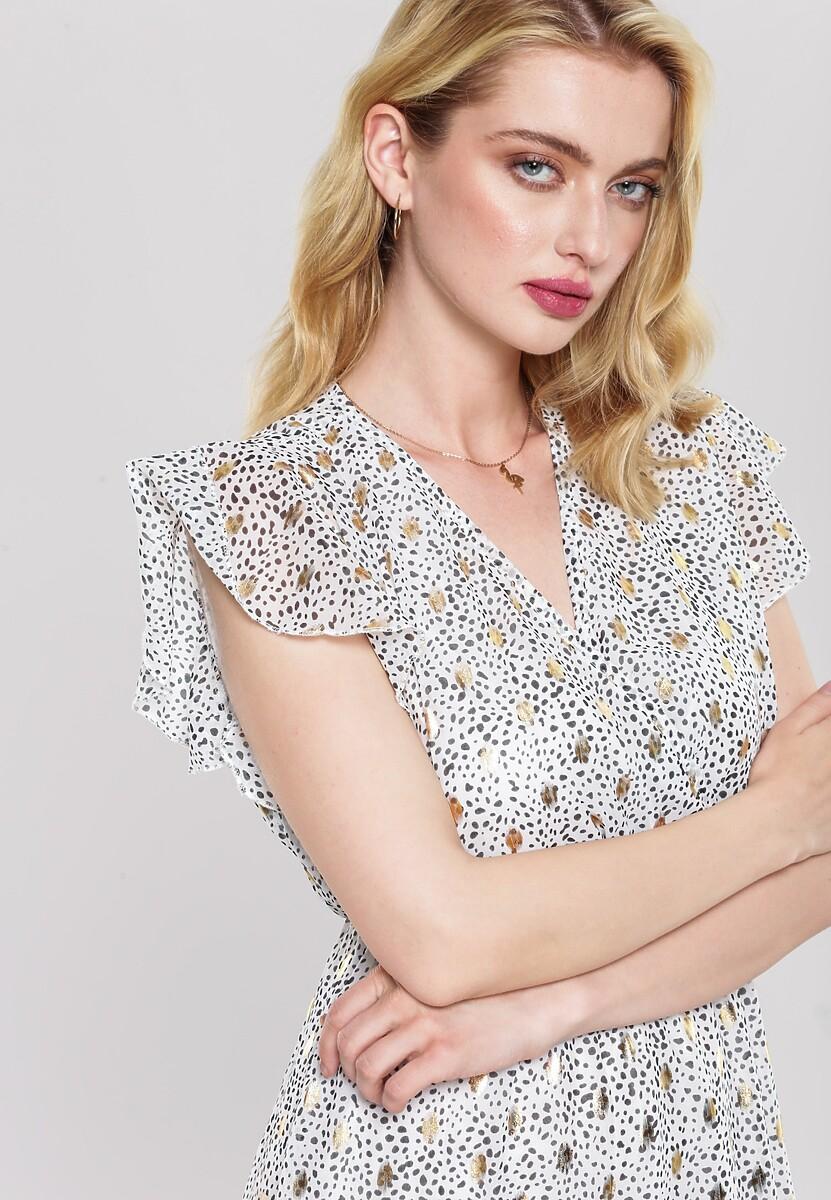 Biała Sukienka Milk Foam