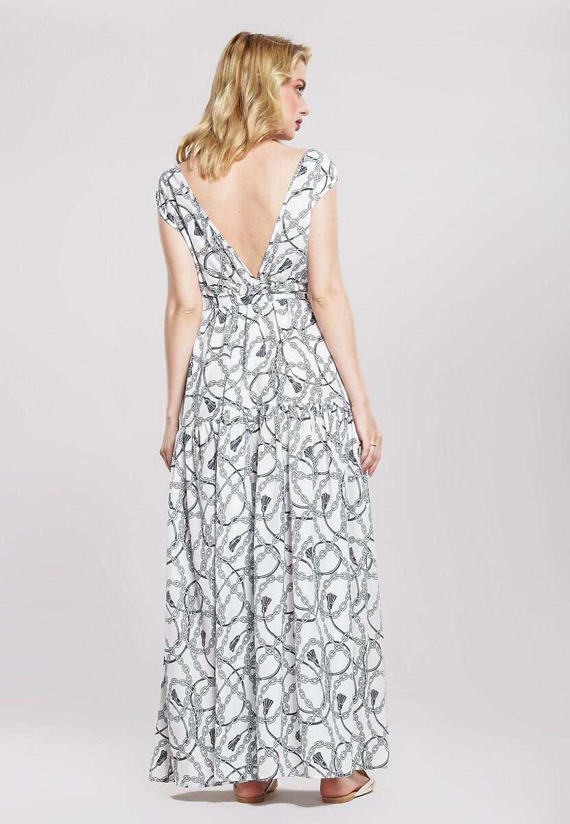 Biała Sukienka Distemper