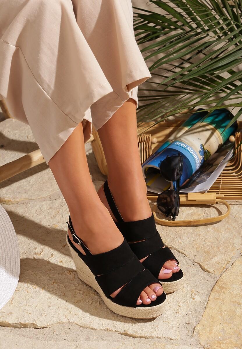 Czarne Sandały Stir Up