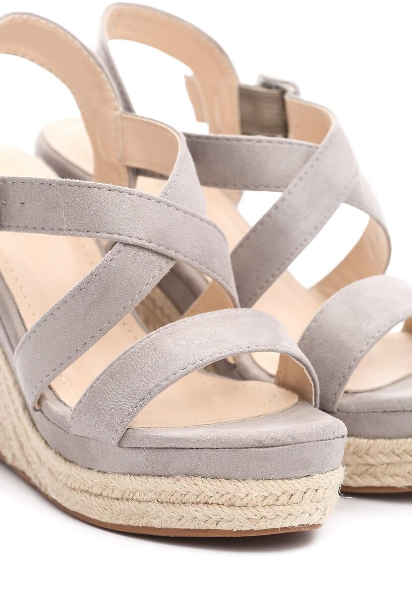 Szare Sandały Toss