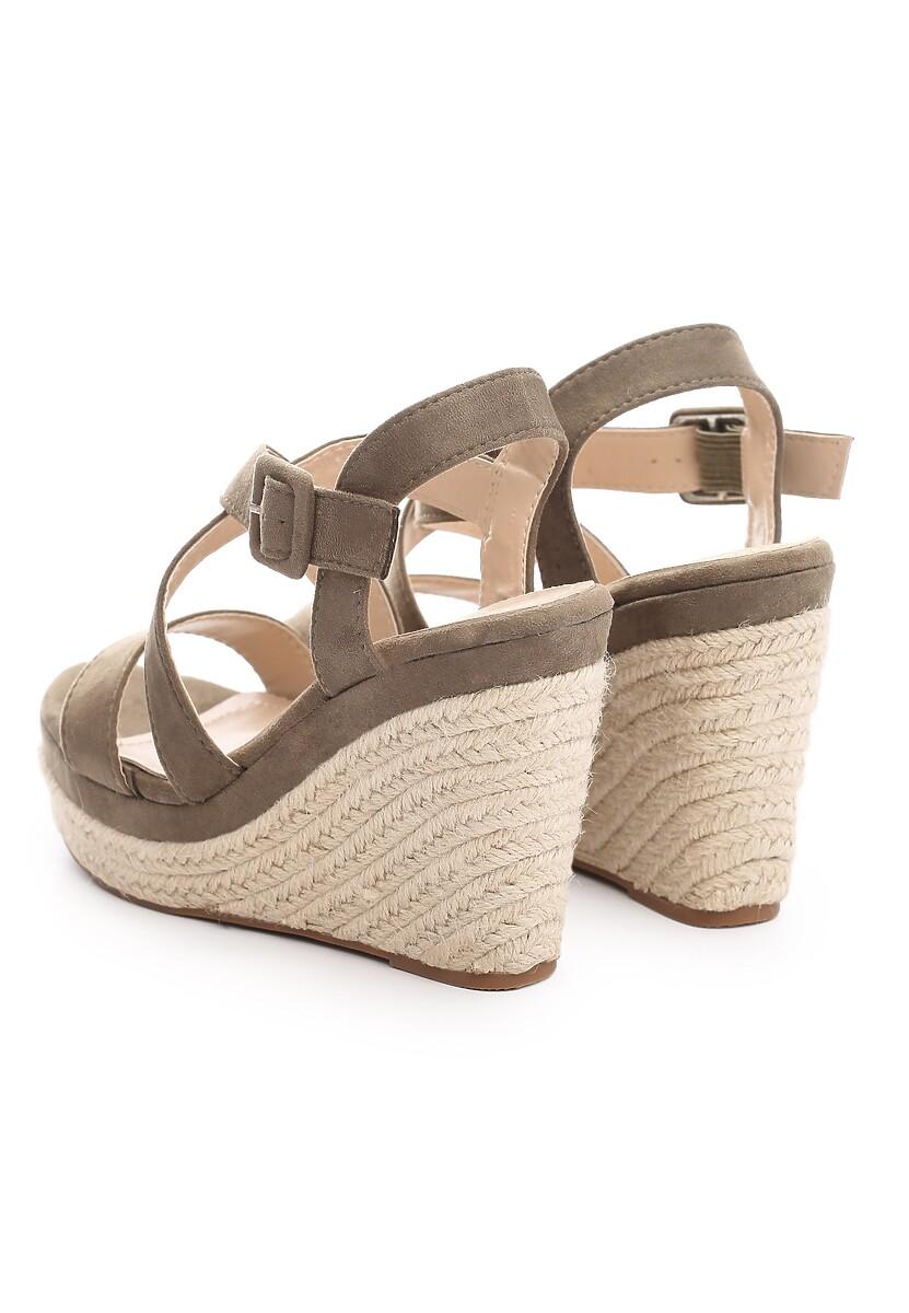 Zielone Sandały Toss