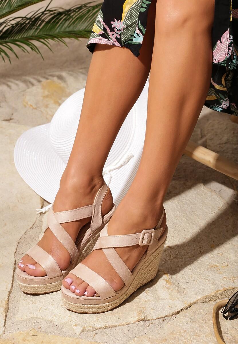 Beżowe Sandały Toss