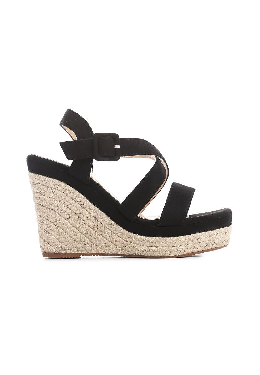 Czarne Sandały Toss