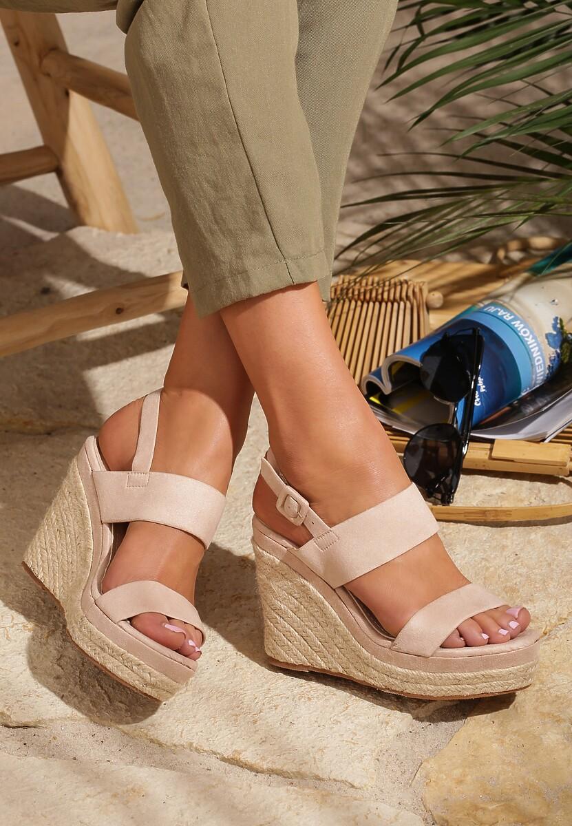Beżowe Sandały Underrate