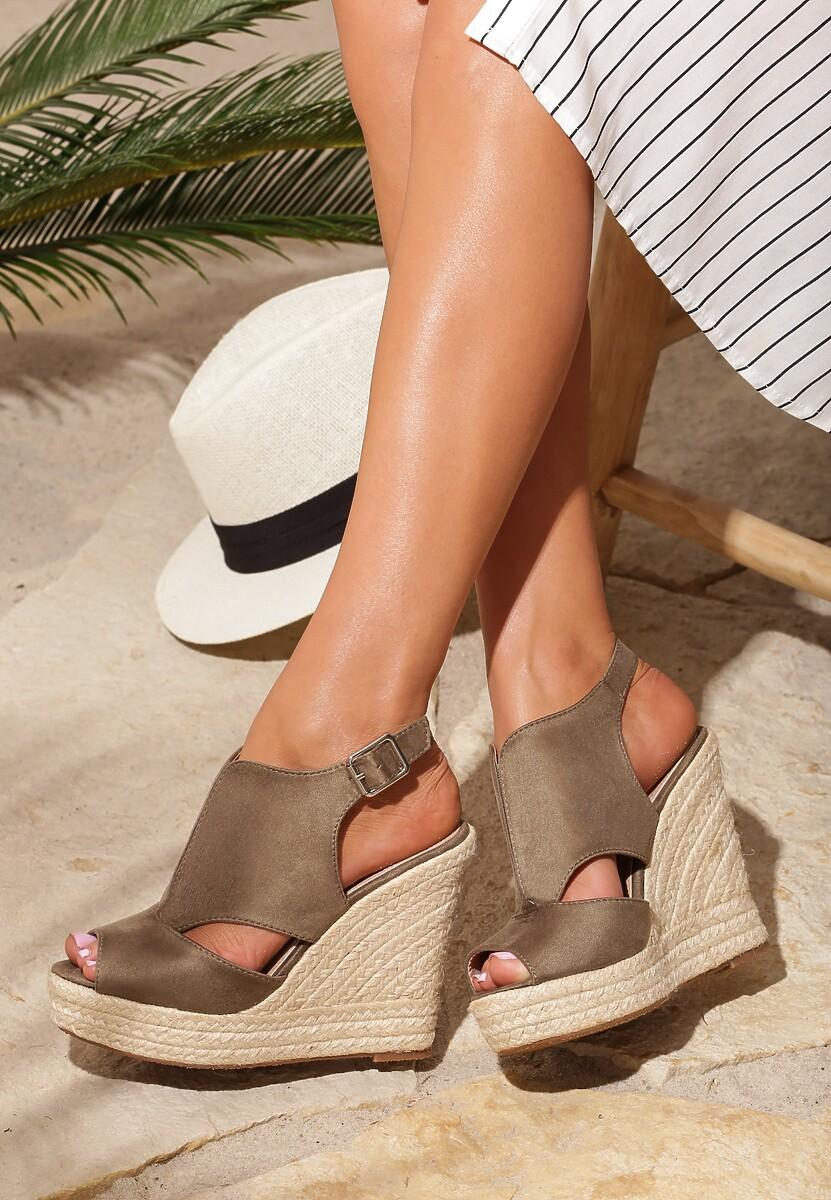 Khaki Sandały Advertize