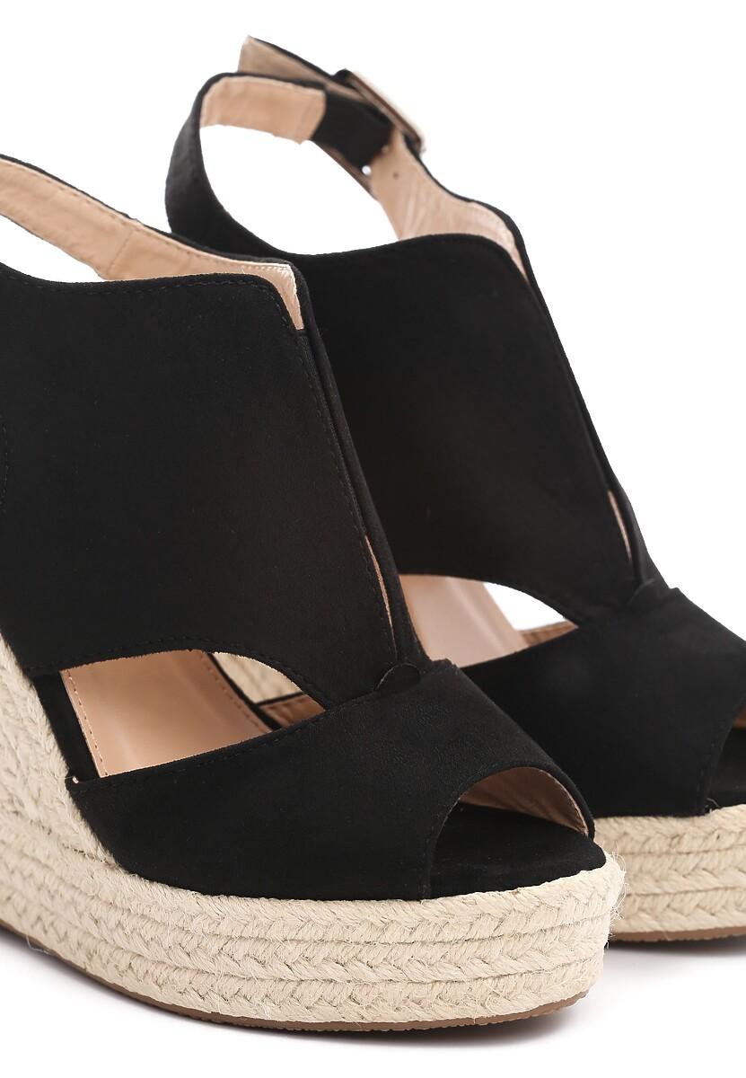 Czarne Sandały Advertize