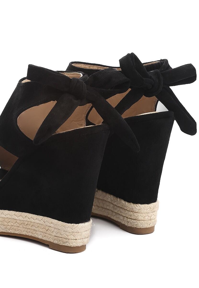 Czarne Sandały Succuss