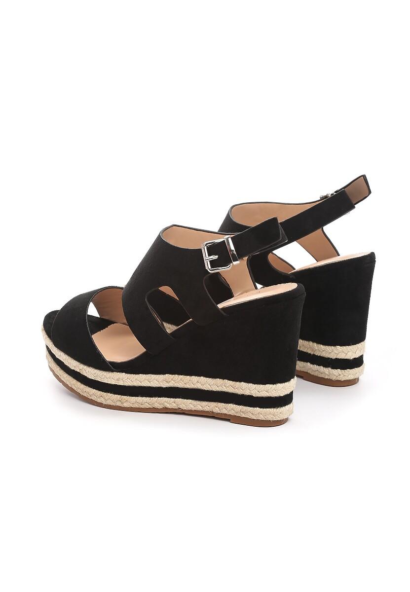 Czarne Sandały Charge Up