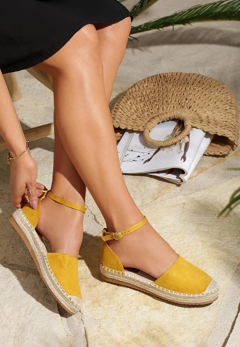 Żółte Espadryle Laze