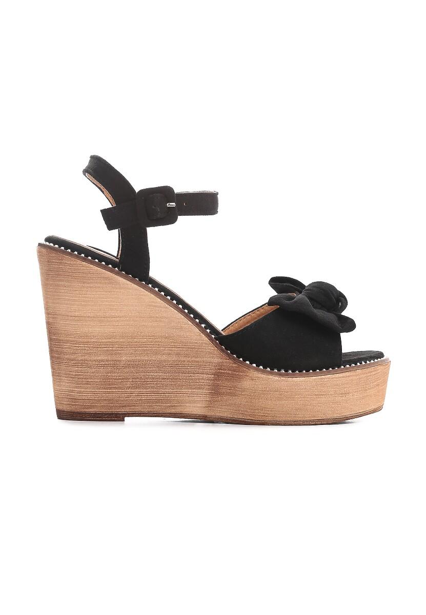 Czarne Sandały Deflate